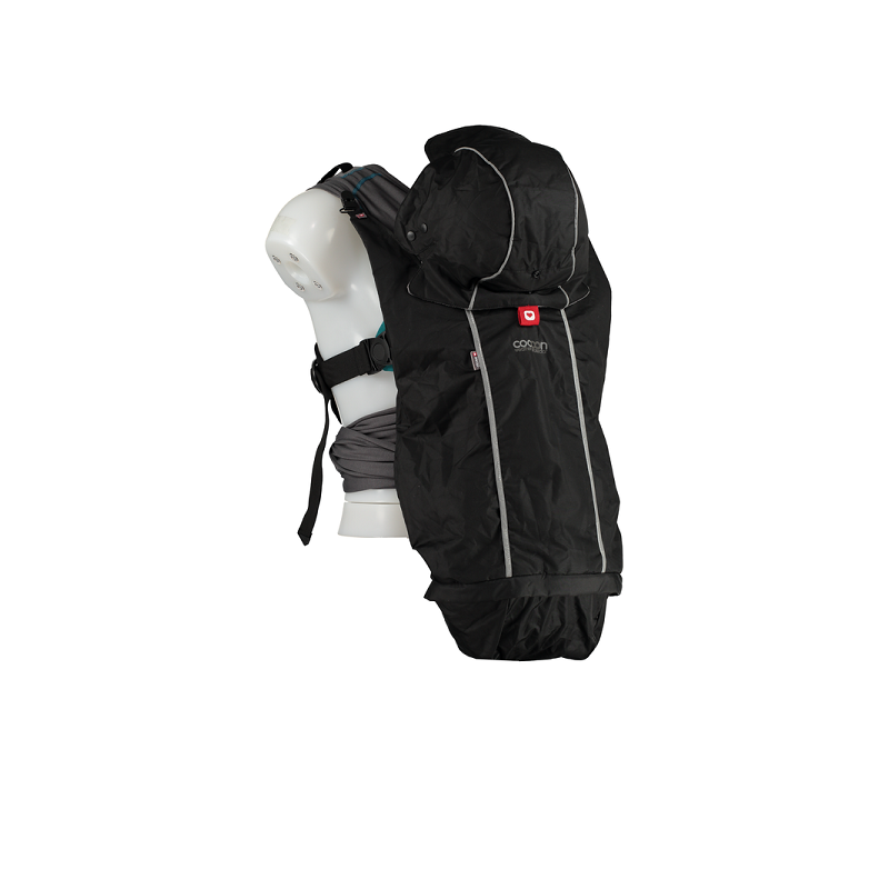 Protector universal portabebés impermeable Cocoon negro Yobio