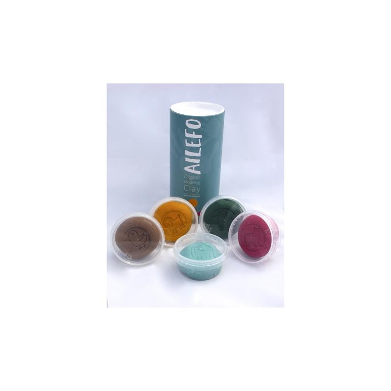 Tubo de arcilla orgánica de 5 colores de 100gr AILEFO