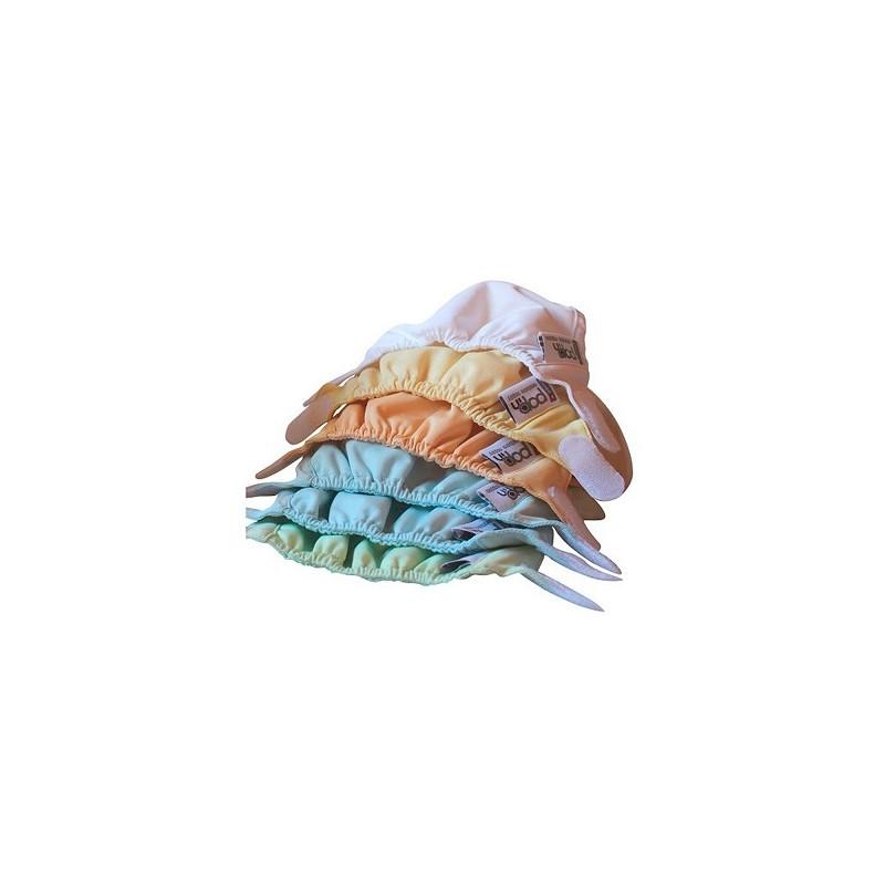 Pack pañales de tela en soja recien nacido Popin